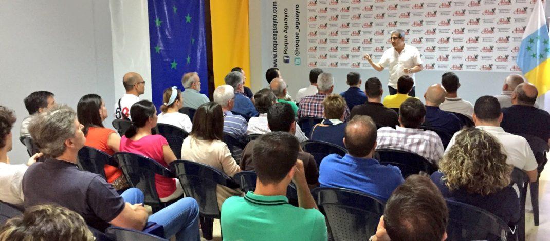 Román Rodríguez detalla en Roque Aguayro el apoyo de NC a los PGC